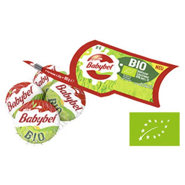 Bio Mini Babybel Französischer halbfester Schnittkäse, 45 % Fett i. Tr., versch. Sorten, jedes 4 x 20 g = 80-g-Netz