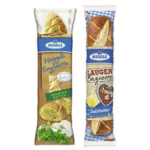 Meggle Baguette oder Laugen Baguette versch. Sorten, jede 160-g-Packung