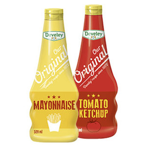 Develey Our Original Tomaten Ketchup 750 ml oder Mayonnaise 500 ml, jede Flasche