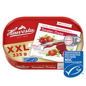 Hawesta MSC Heringsfilets in Tomatensoße jede 325-g-Dose