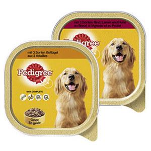 Pedigree Hunde-Nassnahrung versch. Sorten, jede 300-g-Schale