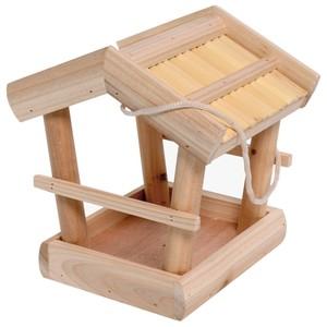 Vogelfutterhaus Schilf aus FSC-Holz mit Kordel