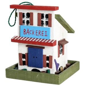 Vogelfutterhaus im Western-Stil aus FSC-Holz
