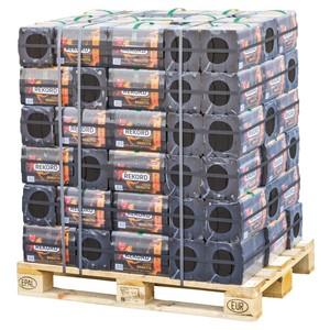 Rekord Braunkohle Briketts Set 90 Packungen je 10 kg