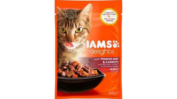 IAMS Delights Katzennassfutter mit Rind & Karotten