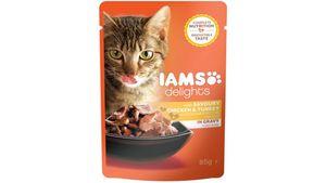IAMS Delights Katzennassfutter mit Huhn & Pute