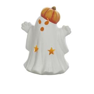Keramik-Geist mit Kürbiskopf mit LED