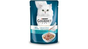 Purina GOURMET Perle Genuss Katzennassfutter in Sauce mit Thunfisch mit feiner Meeresfrüchtenote