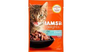 IAMS Delights Katzennassfutter mit Thunfisch & Hering