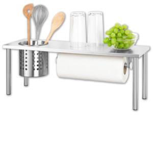 HOME IDEAS COOKING Edelstahl-Küchenregal