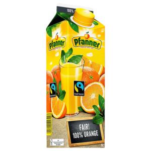 Pfanner 100% Fairtrade Orangensaft 1l