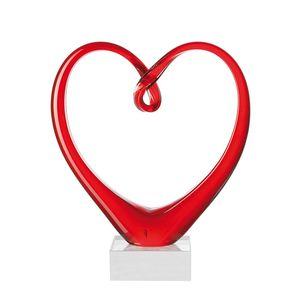 Skulptur Heart - Rot, Leonardo