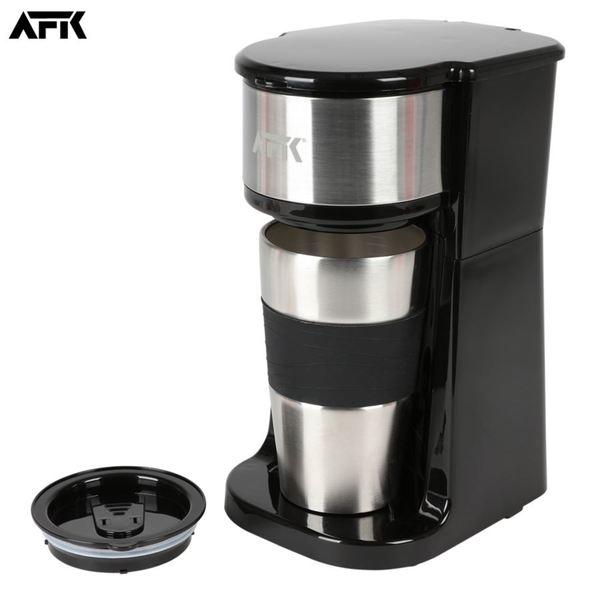 AFK Kaffeemaschine TKME-700.325.4 mit Reisebecher Schwarz/Edelstahl