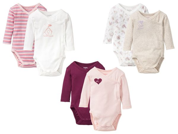 LUPILU® PURE COLLECTION 2 Baby Mädchen Wickelbodys/-Bodys