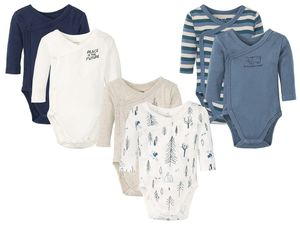 LUPILU® PURE COLLECTION 2 Baby Jungen Wickelbodys/-Bodys