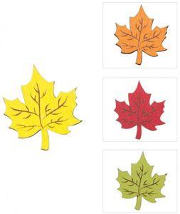 Streudeko - Herbstlaub - aus Holz - 8 Stück - 1 Set
