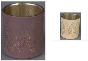 Teelichtglas - Blätter - 7 x 8 cm - 1 Stück