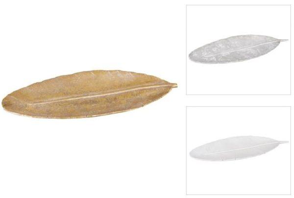 Dekoteller - Feder - aus Polyresin - 40 x 13 x 2 cm - verschiedene Farben