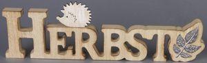 Deko-Schriftzug - HERBST - aus Holz - 38 x 2 x 11,5 cm