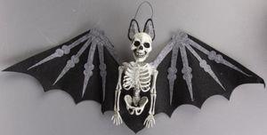 Dekohänger - Skelett-Fledermaus - aus Kunststoff - 29 x 7 x 74 cm