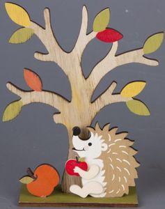 Standdeko - Apfelbaum - aus Holz - 14,5 x 4,5 x 19 cm