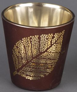 Teelichtglas - Blatt - 6,5 x 6,5 cm