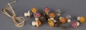 Streudeko - Pilze - aus Holz - 12 Stück