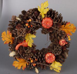 Dekokranz - Herbst - aus Holz - Ø = 33 cm