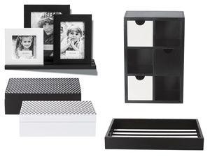 MELINERA® Minikommode/ 2 Aufbewahrungsboxen/ Bilderleiste/ Tablet