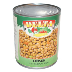 Linsen oder weiße Bohnen mit Suppengrün