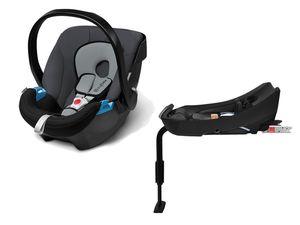 CYBEX SILVER Set Babyschale Aton Cobblestone und Base-Fix SL
