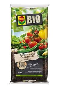 Tomaten- und Gemüseerde torffrei, 40 Liter Compo