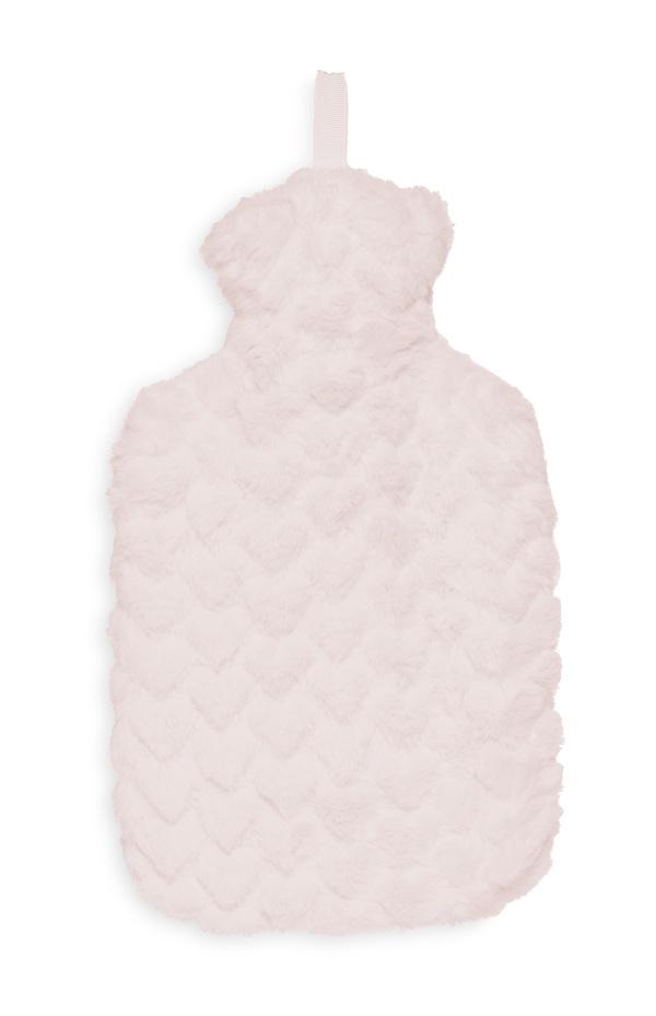 Flauschige Wärmflasche in Rosa