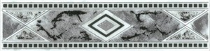 cersanit Bordüre Malta ,  grau, 6 x 25 cm
