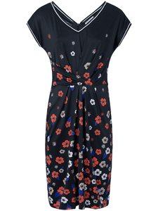 Jersey-Kleid V-Ausschnitt Laurèl mehrfarbig