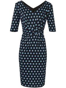 Jersey-Kleid langem 1/2-Arm Laurèl mehrfarbig