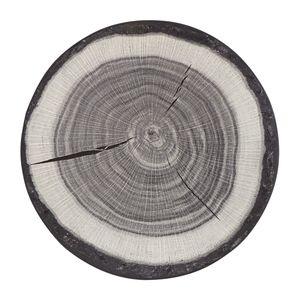Teppich Baumstamm - Kunstfaser - Grau - Ø 100 cm, Hanse Home Collection