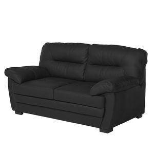 Sofa Royale (2-Sitzer) Kunstleder - Schwarz, Cotta