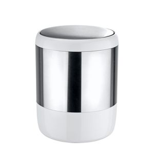Kosmetikeimer Loft - Edelstahl - Silber / Weiß, Wenko