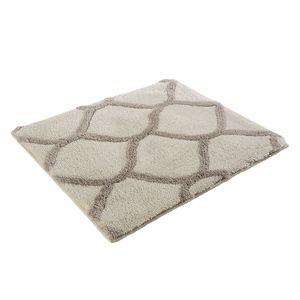 Badteppich Oriental Tile - Kunstfaser - Beige / Grau - 55 x 65 cm, Esprit Home