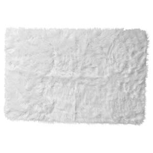 Kunstfell-Teppich (60x90, weiß)