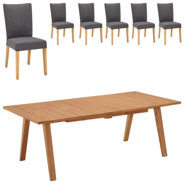 Essgruppe Royal Oak Gold Nordrup 100x210 6 Stühle Von