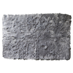 Kunstfell-Teppich (120x180, grau)
