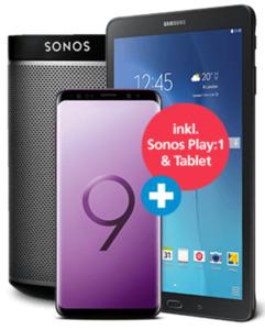 Samsung Galaxy S9+ mit Sonos Play:1 mit o2 Free L Prof. Flex mit 30 GB