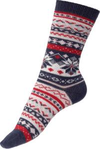 FASCÍNO Norweger Socken marine/rosa, Gr. 39-42