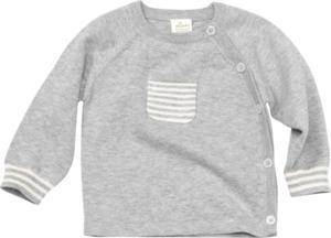 ALANA Baby-Wickeljacke, Gr. 62, in Bio-Baumwolle und Wolle, grau, für Mädchen und Jungen