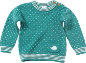 ALANA Baby-Pullover, Gr. 80, in Bio-Baumwolle und Bio-Wolle, mint, für Mädchen und Jungen