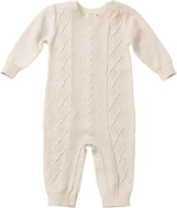 ALANA Baby-Strickoverall, Gr. 62, in Bio-Baumwolle und Wolle, natur, für Mädchen und Jungen