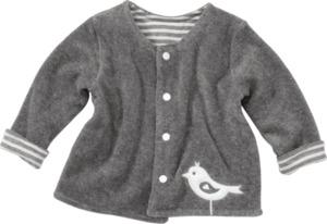 ALANA Baby-Wendejacke, Gr. 62, in Bio-Baumwolle, natur, grau, für Mädchen und Jungen