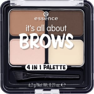 essence cosmetics Augenbrauenpalette it's all about brows 4in1 palette braun